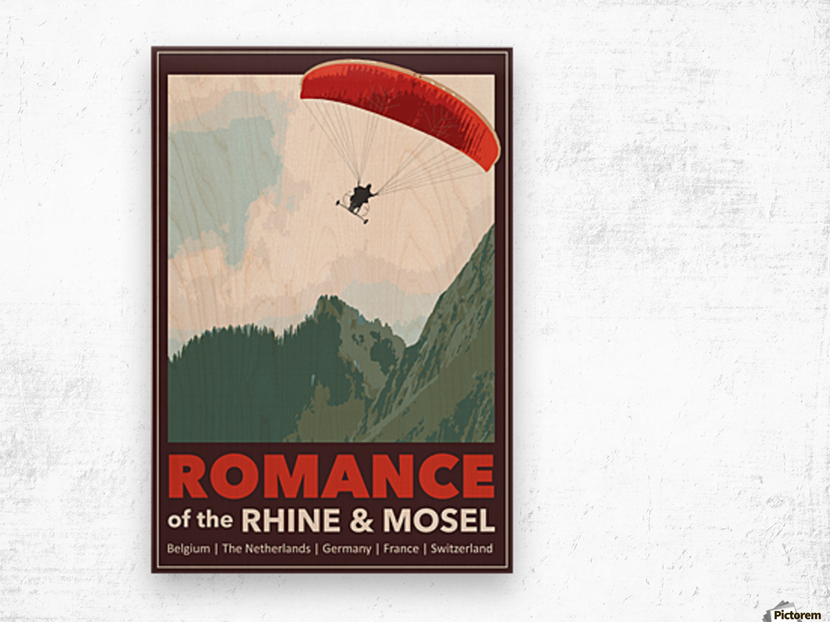 Lydon, Romance of the Rhine and Mosel poster Wood print