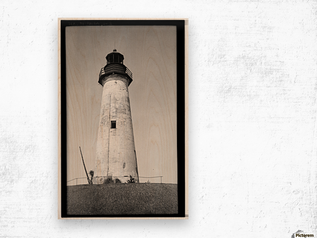 Point-Isabel-Light-Station-Texas Wood print