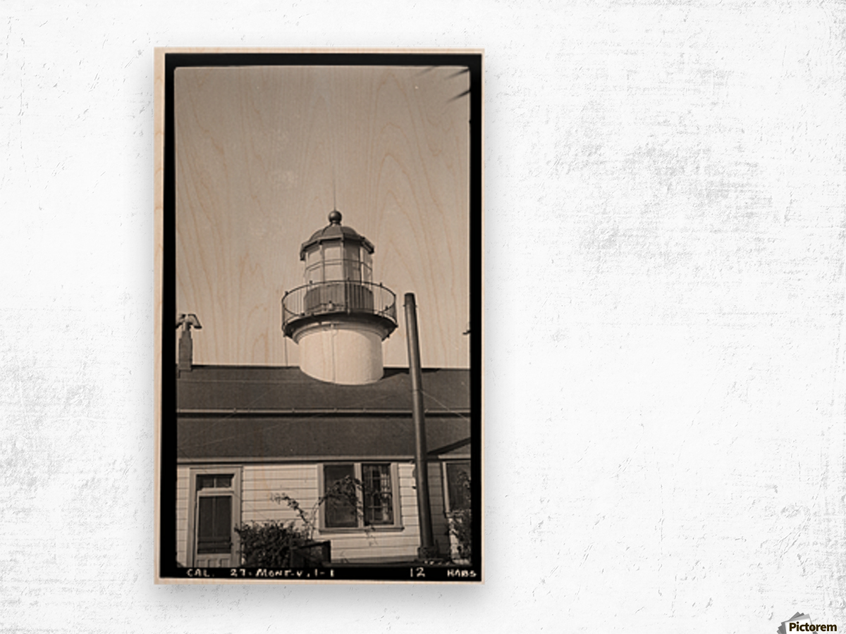 Point-Pinos-Lighthouse-CA Wood print