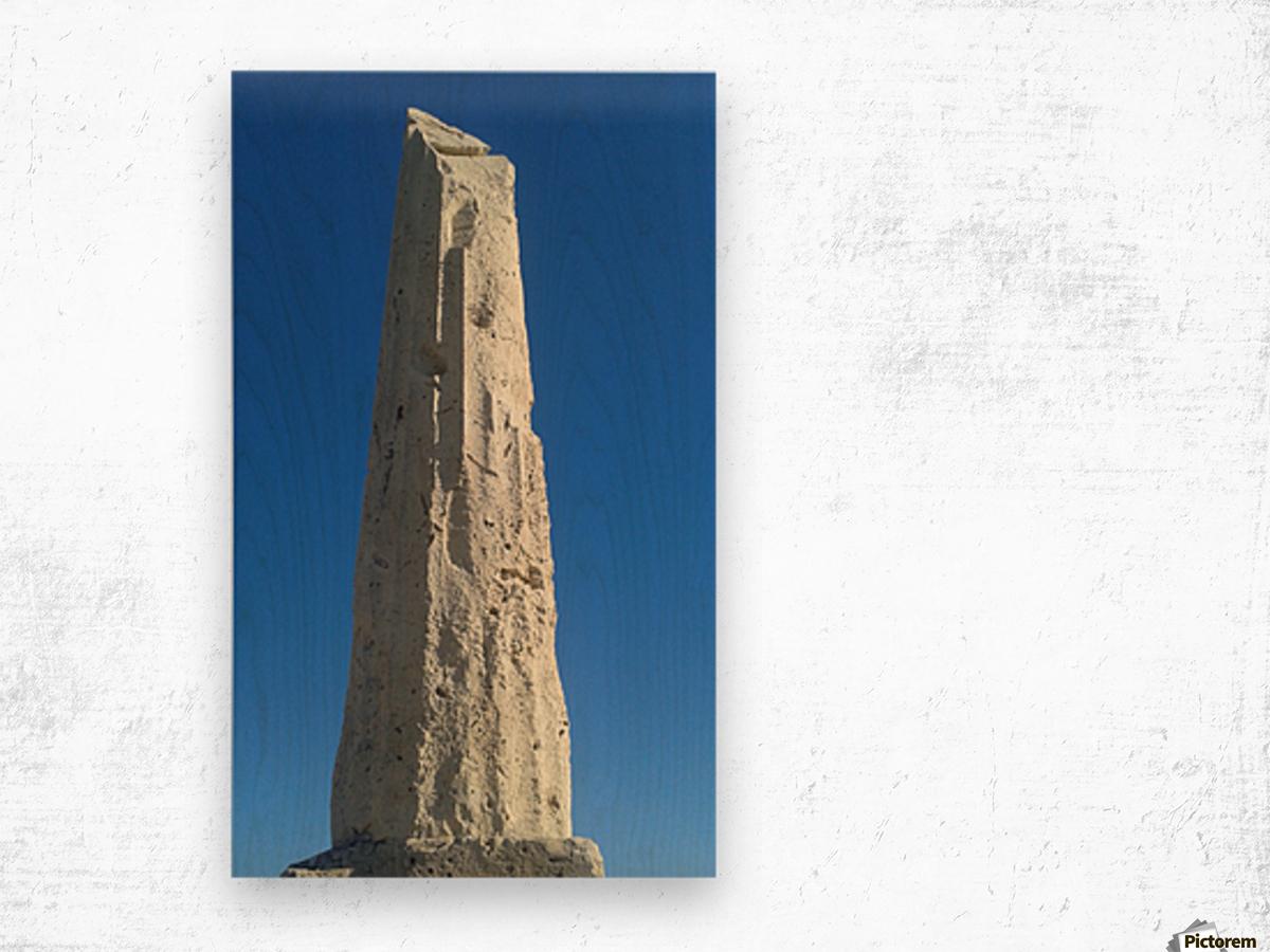 Old ruin near the coast of Aegina Island, Greece Wood print