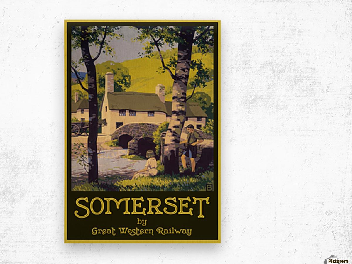 Great Western Railway Somerset travel poster Wood print
