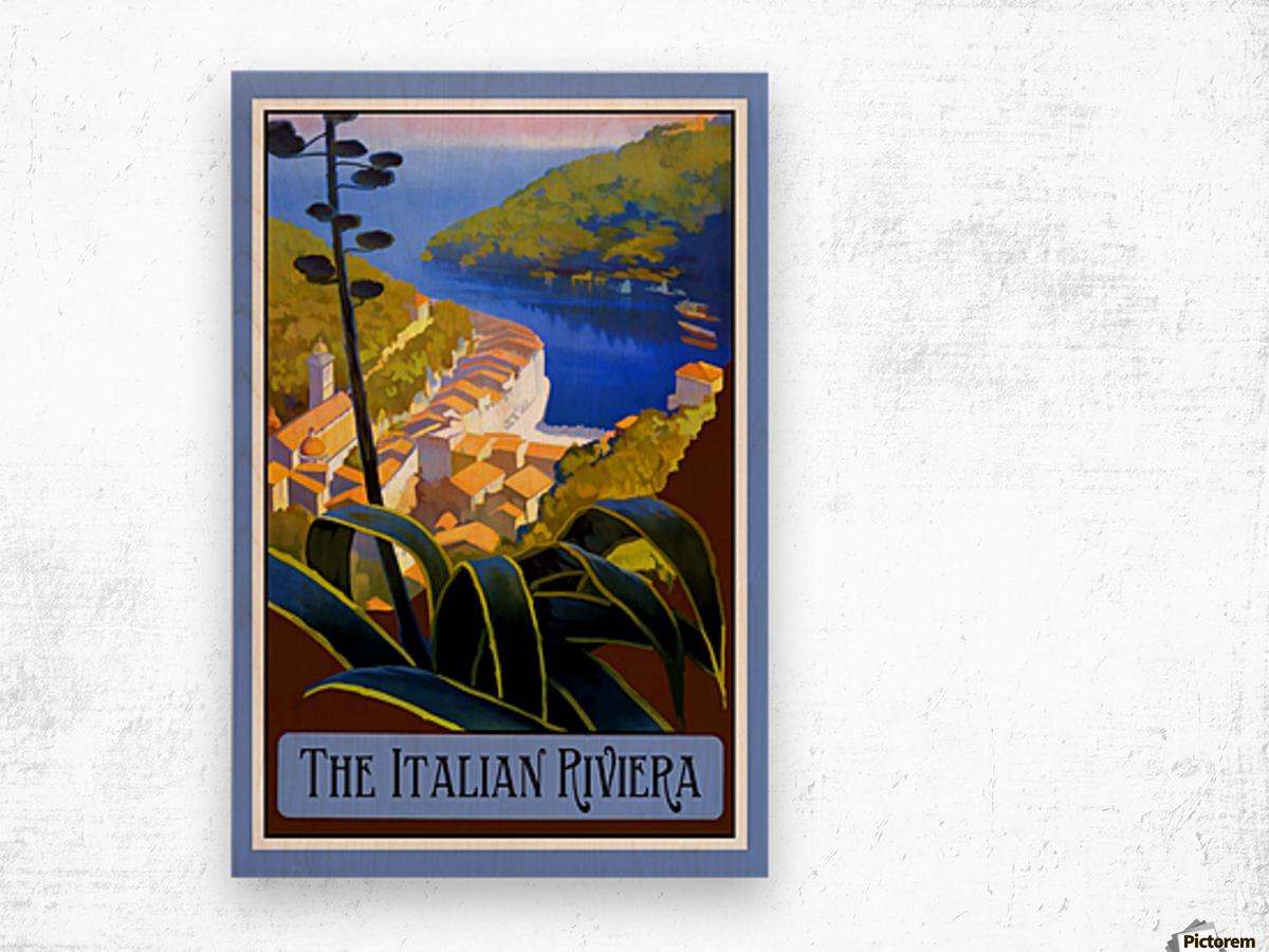 The Italian Riviera Wood print