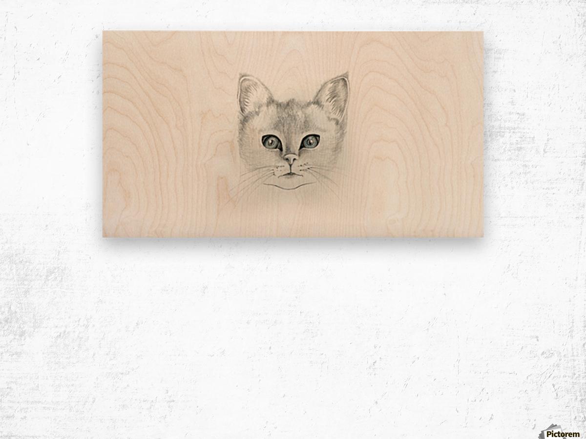 Cat Wood print