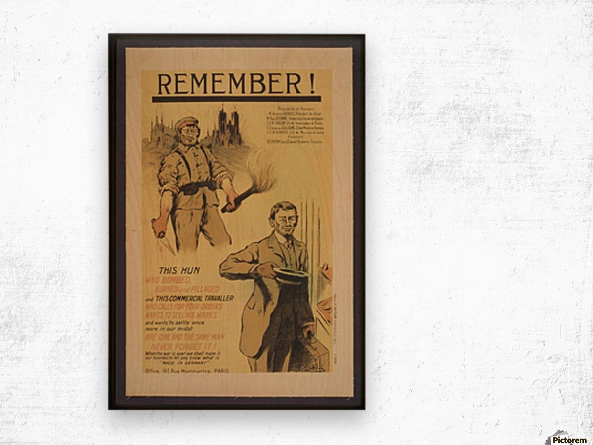 Vintage---Remember-the-Hun Wood print