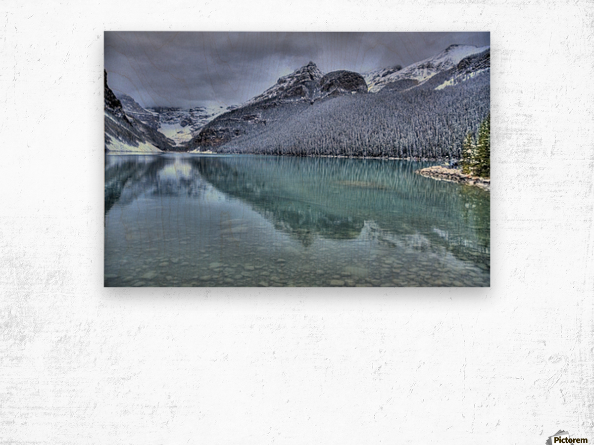 Lake Louise Winter Wood print