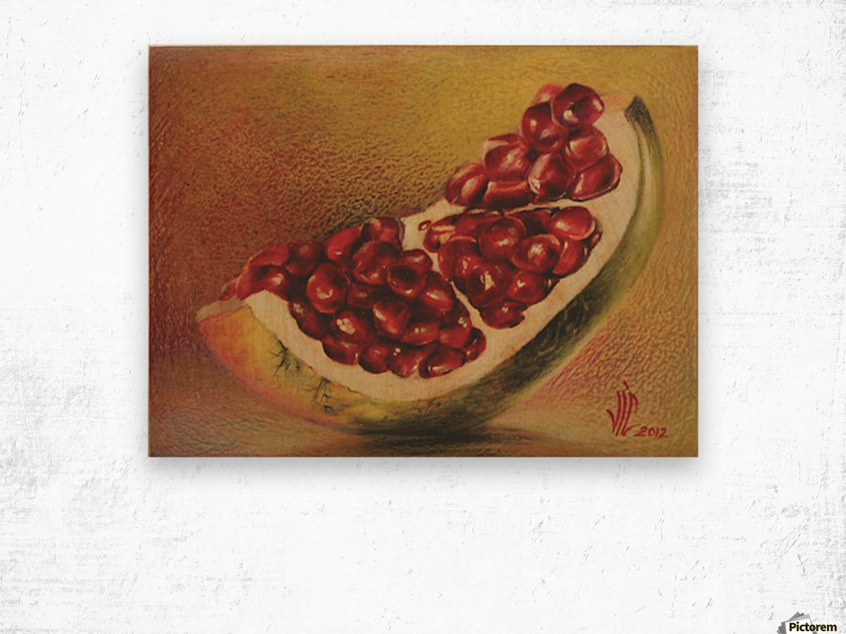 pomegranate by Vali Irina Ciobanu Wood print