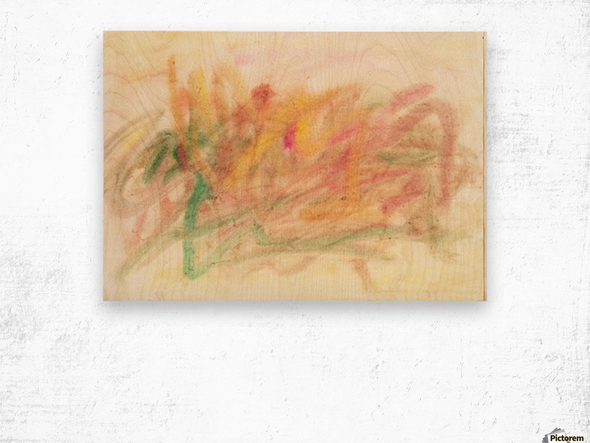 Composition 3 Wood print