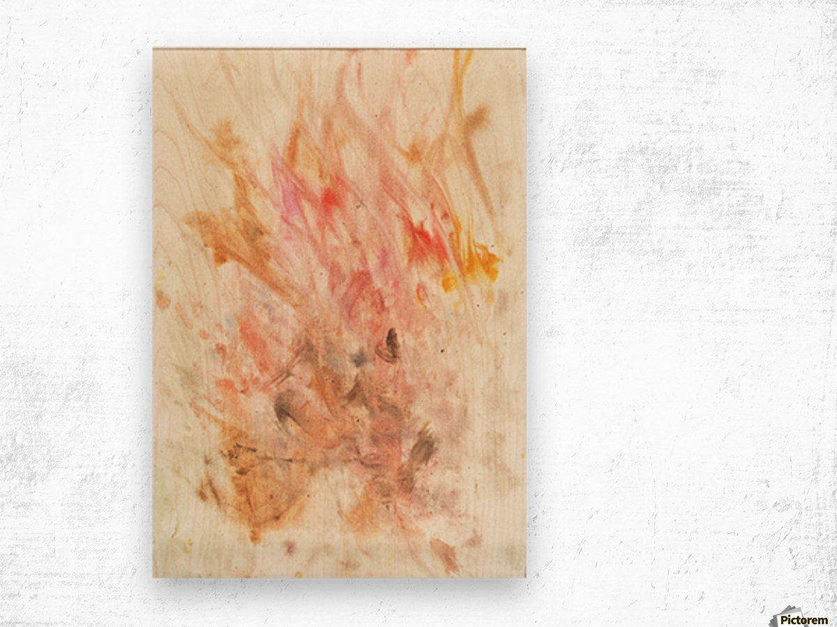 Frustration flames Wood print