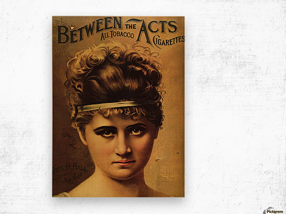 Vintage Cigarette Poster 1890 Wood print