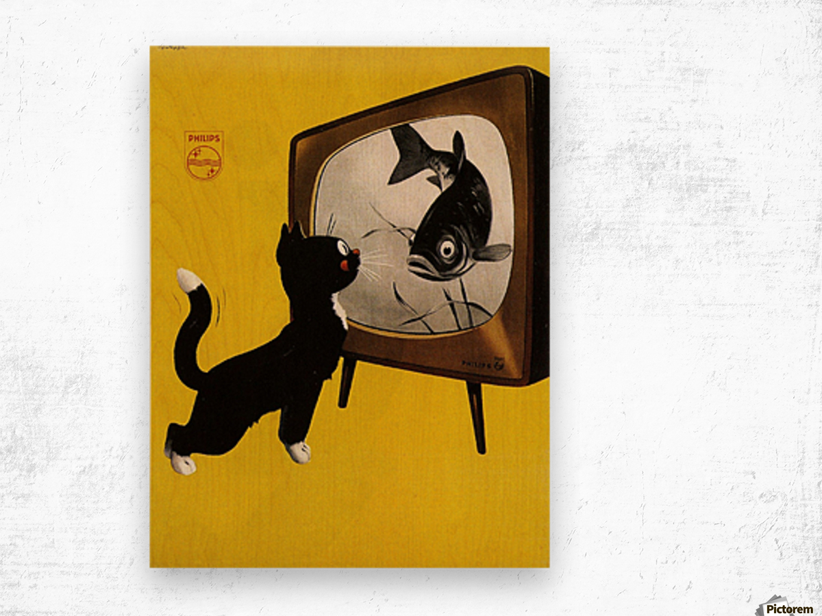 Dutch poster for Philips Tv, 1951 Wood print