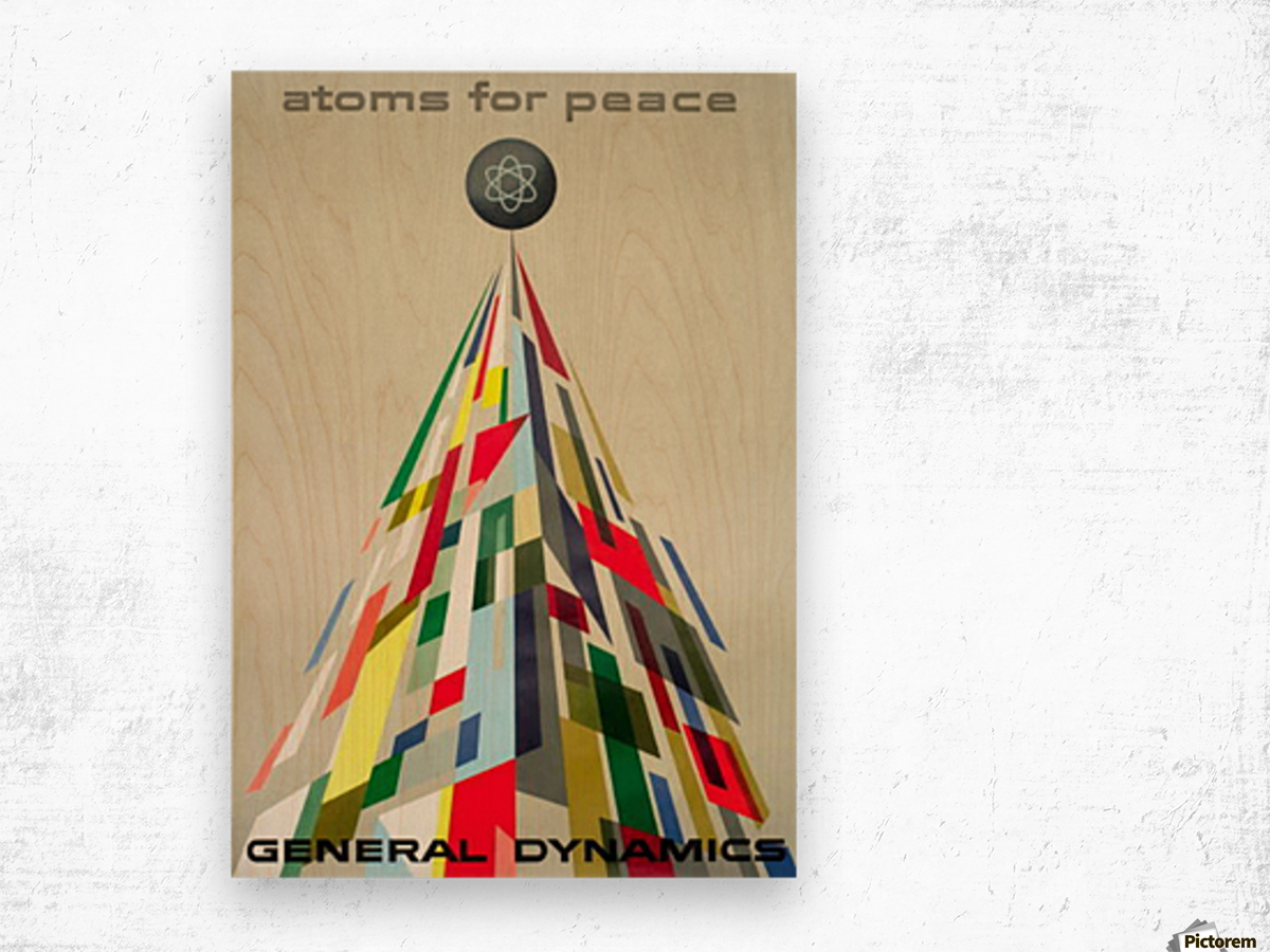 Atoms for Peace poster Wood print