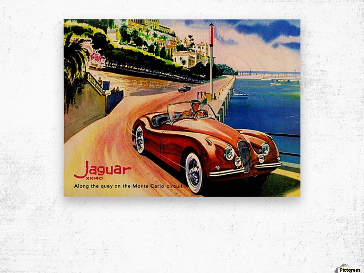 Jaguar Advertising Vintage Poster Wood print