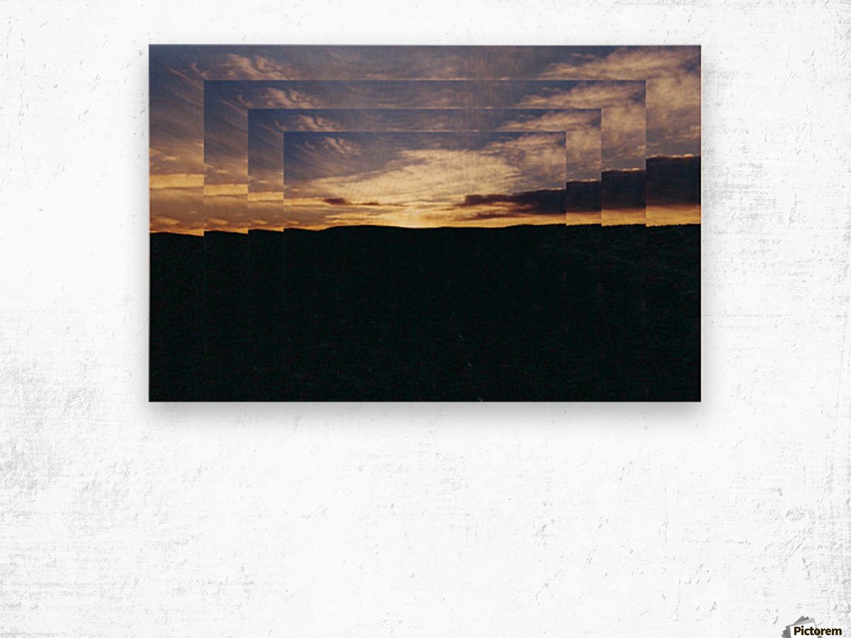 A  Manipulated Sunset Wood print