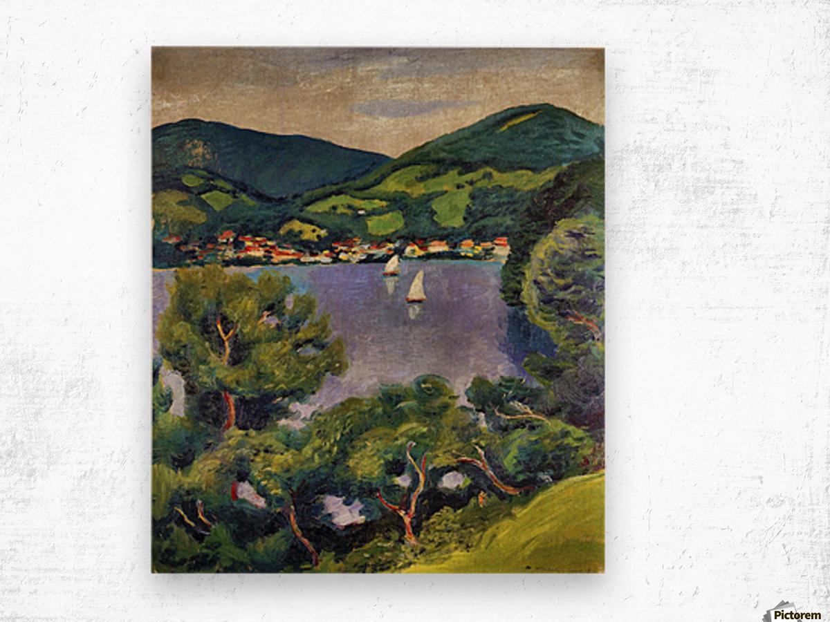 Tegern Sea landscape by August Macke Wood print