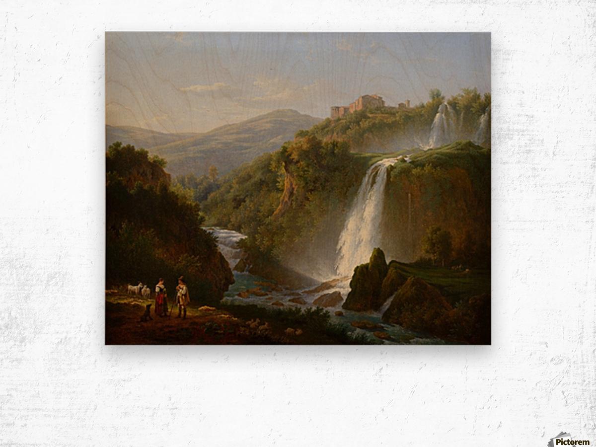Waterfall near Tivoli Wood print