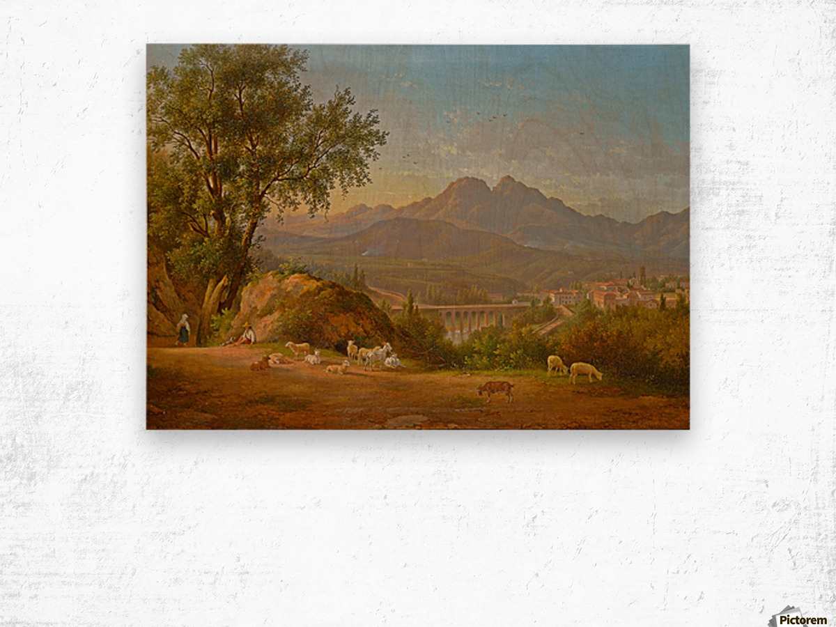 A view of cava dei Tirreni near Salerno, Italy Wood print