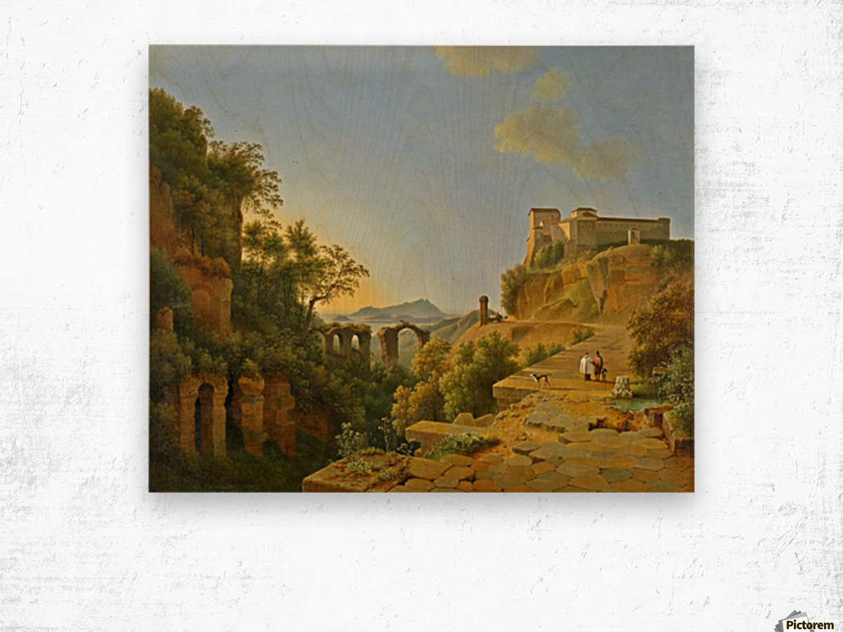 De golf van Napels met op de achtergrond het eiland Ischia Wood print