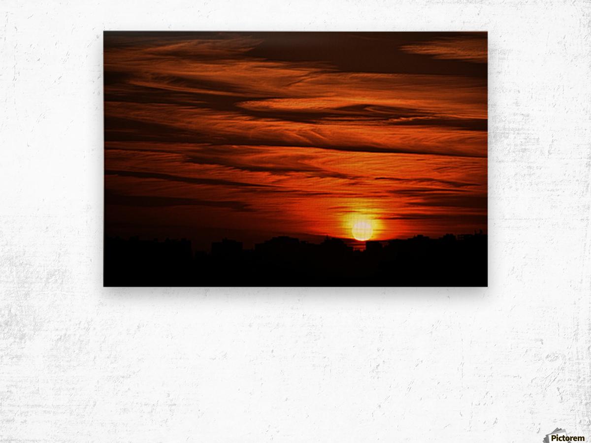 Sunrise in Cairo Wood print