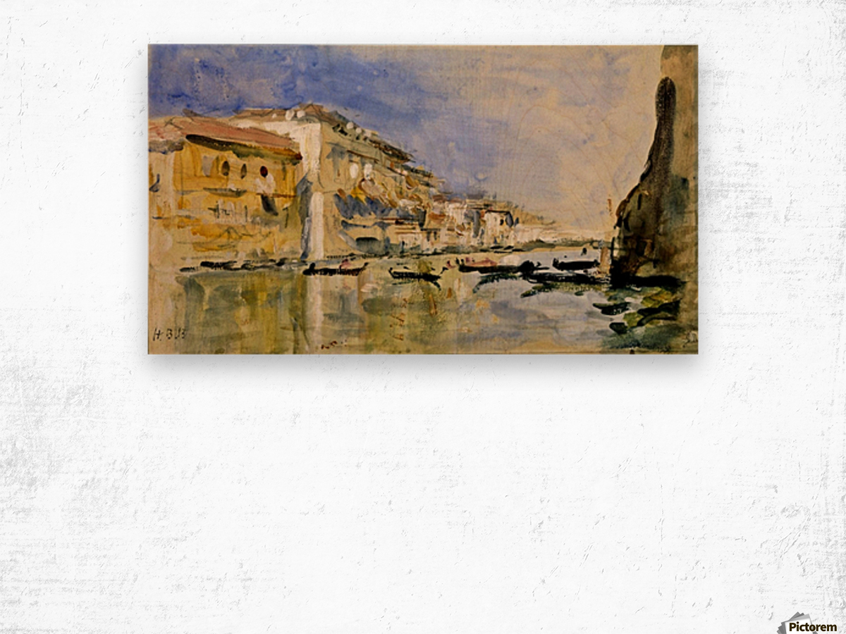 The Grand Canal, Venice Wood print