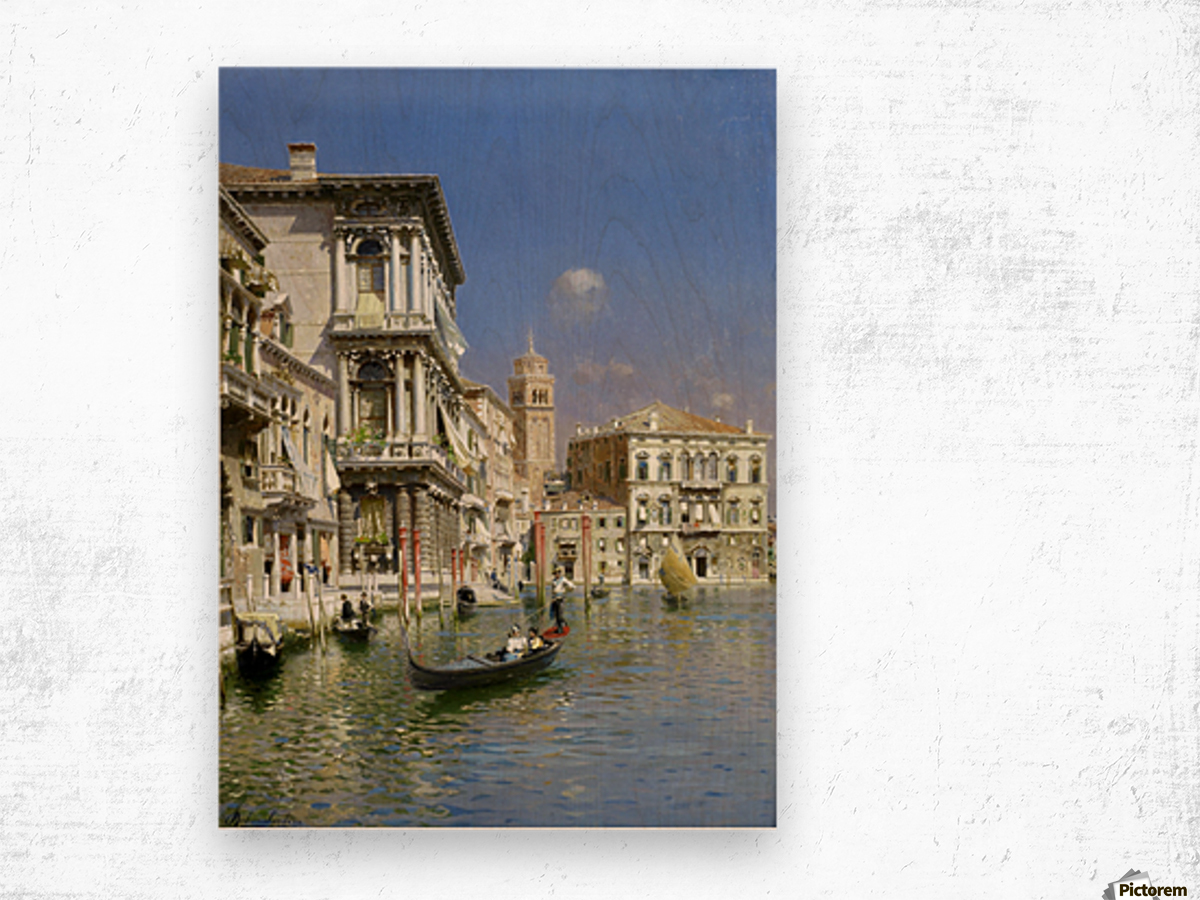 In the gondola Wood print