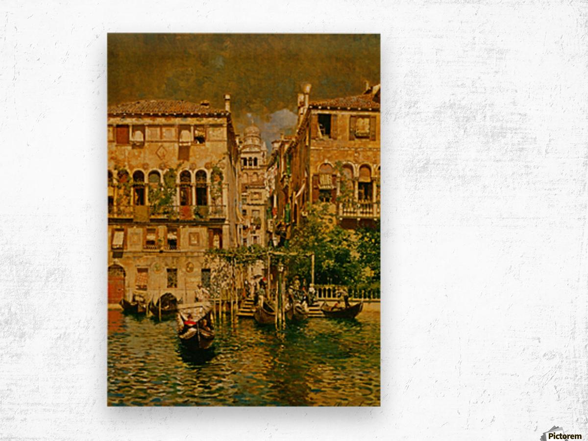 Leaving a Residence on the Grand Canal Wood print