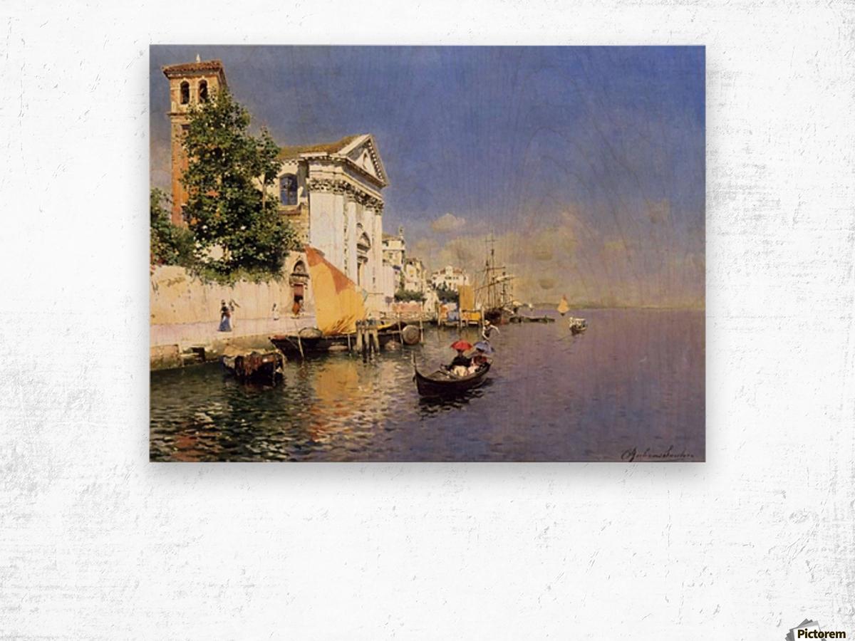 Entering a Venetian Canal Impression sur bois