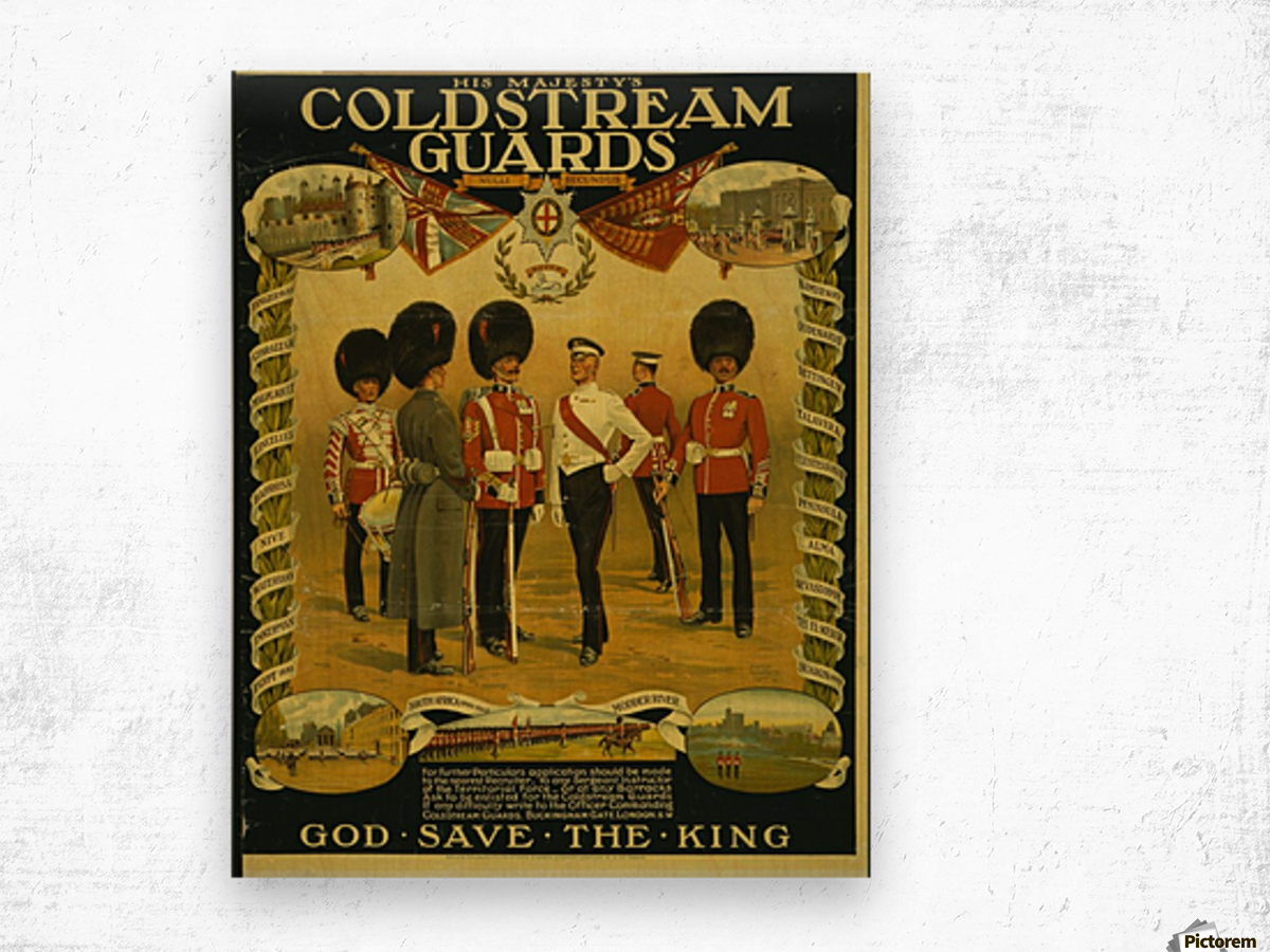 Coldstream Guards Wood print