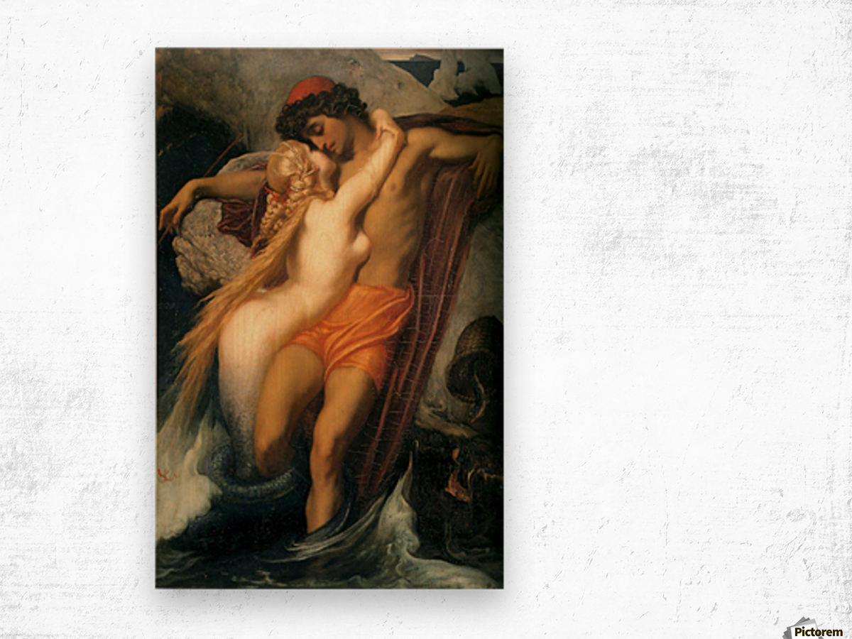 The fisherman and the syren Wood print
