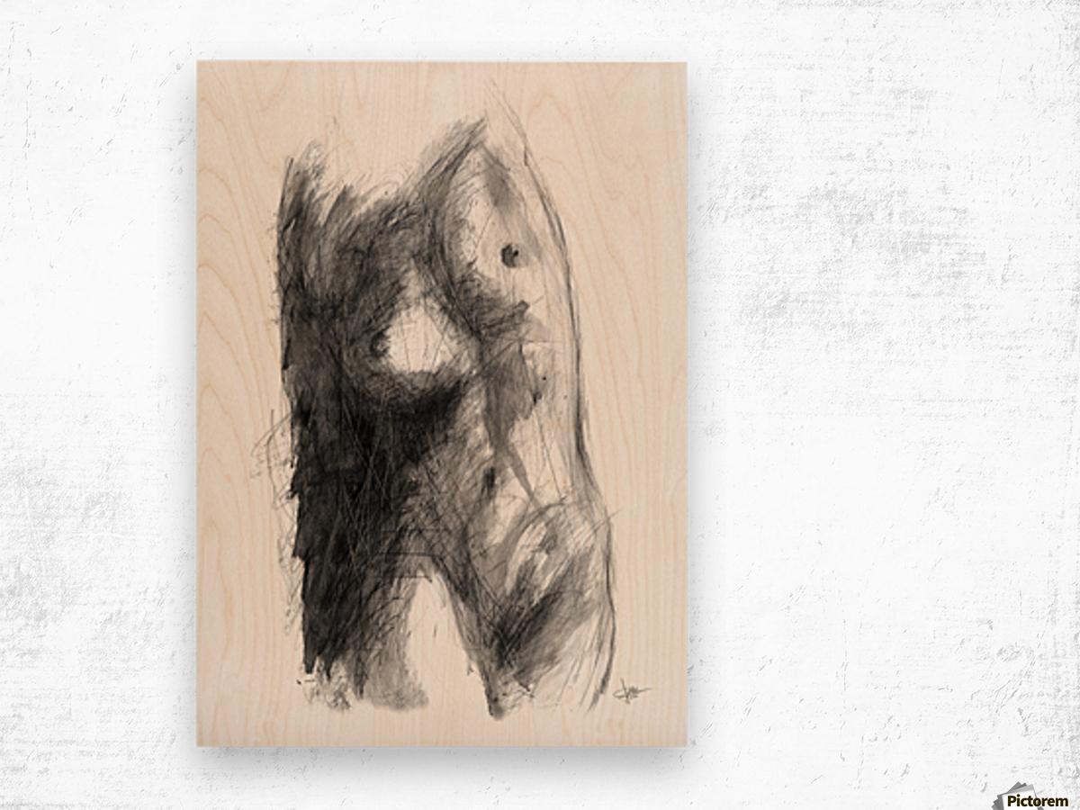 Light and Shadow Wood print