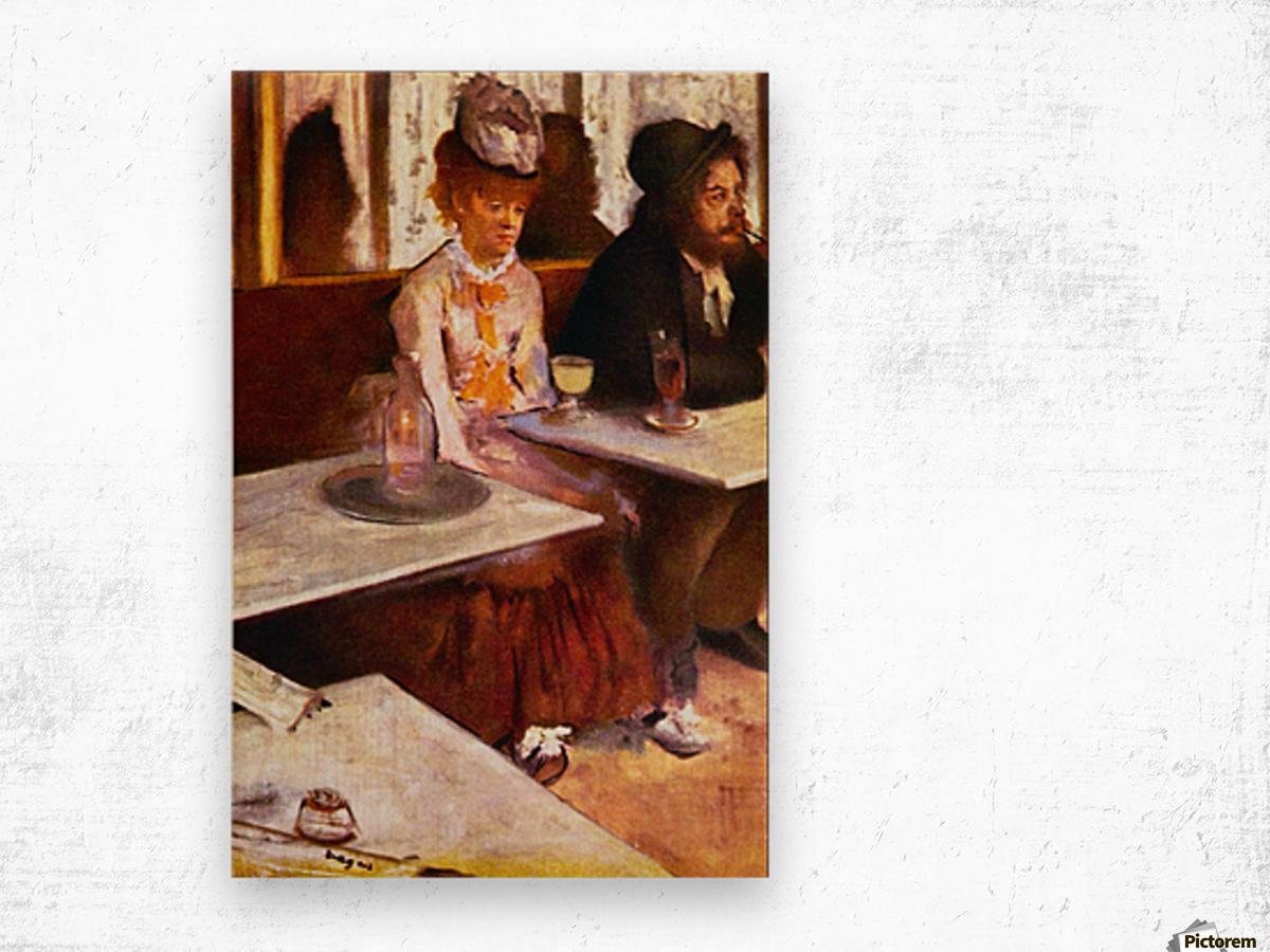 Absinthe Drinkers by Degas Wood print