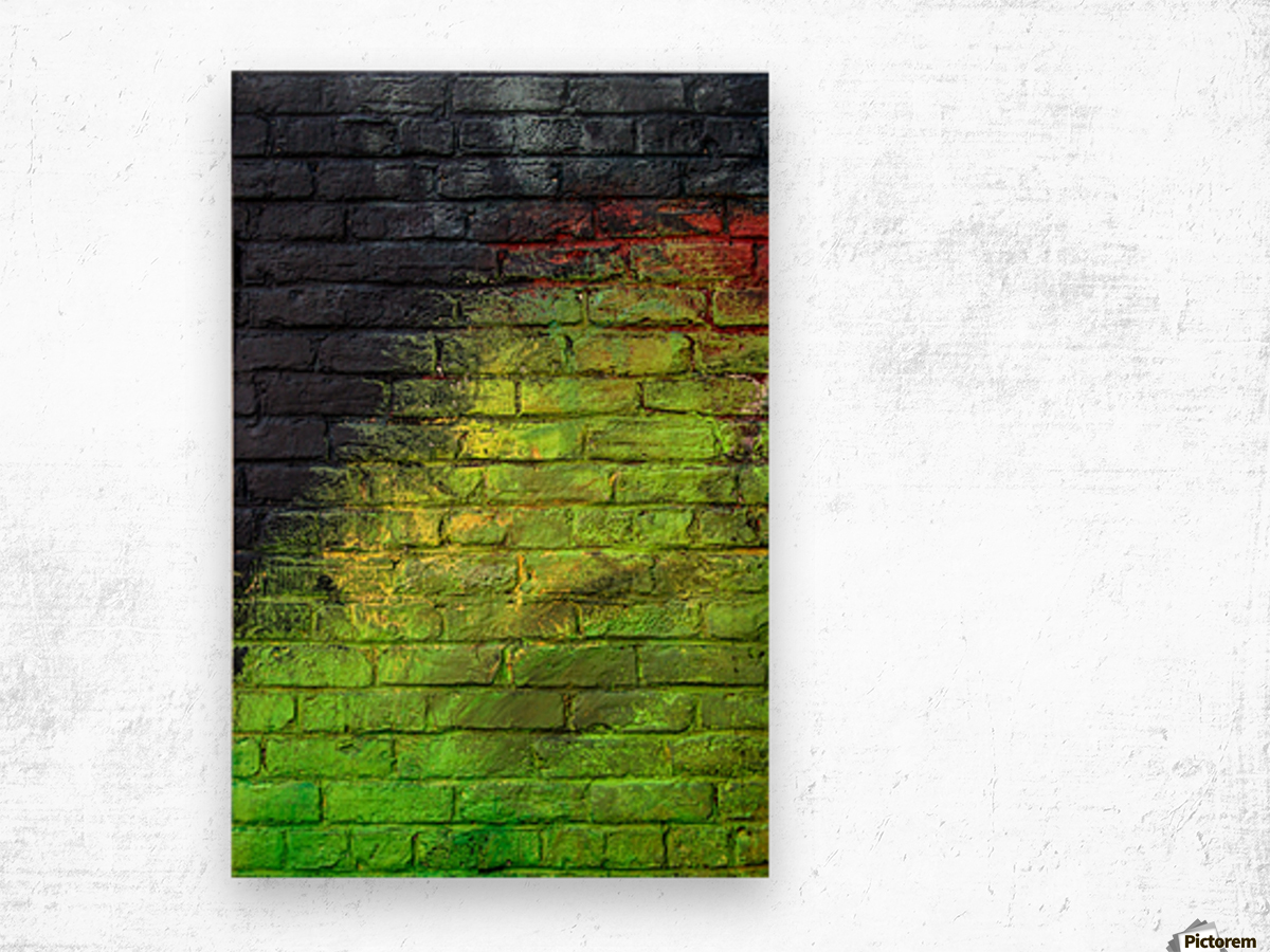 The Green Wall Wood print