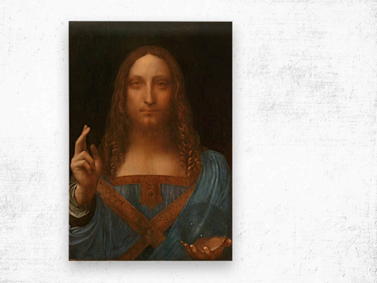 Salvator Mundi Wood print