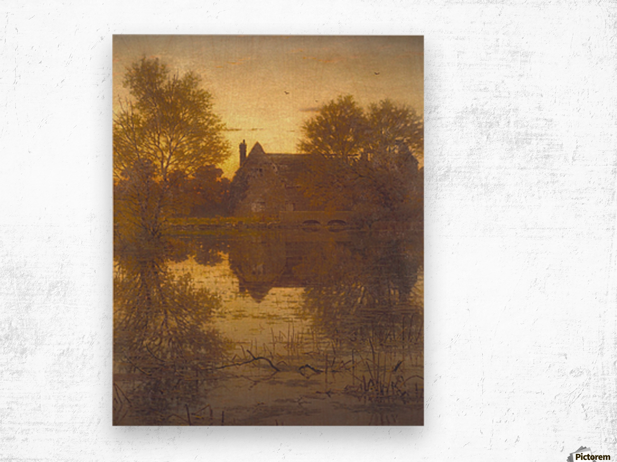 The deserted mill Wood print
