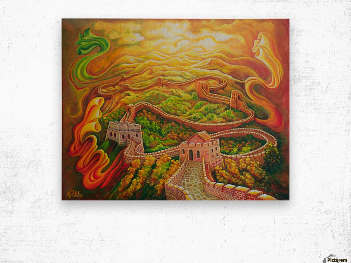 Dragon's eye view Wood print