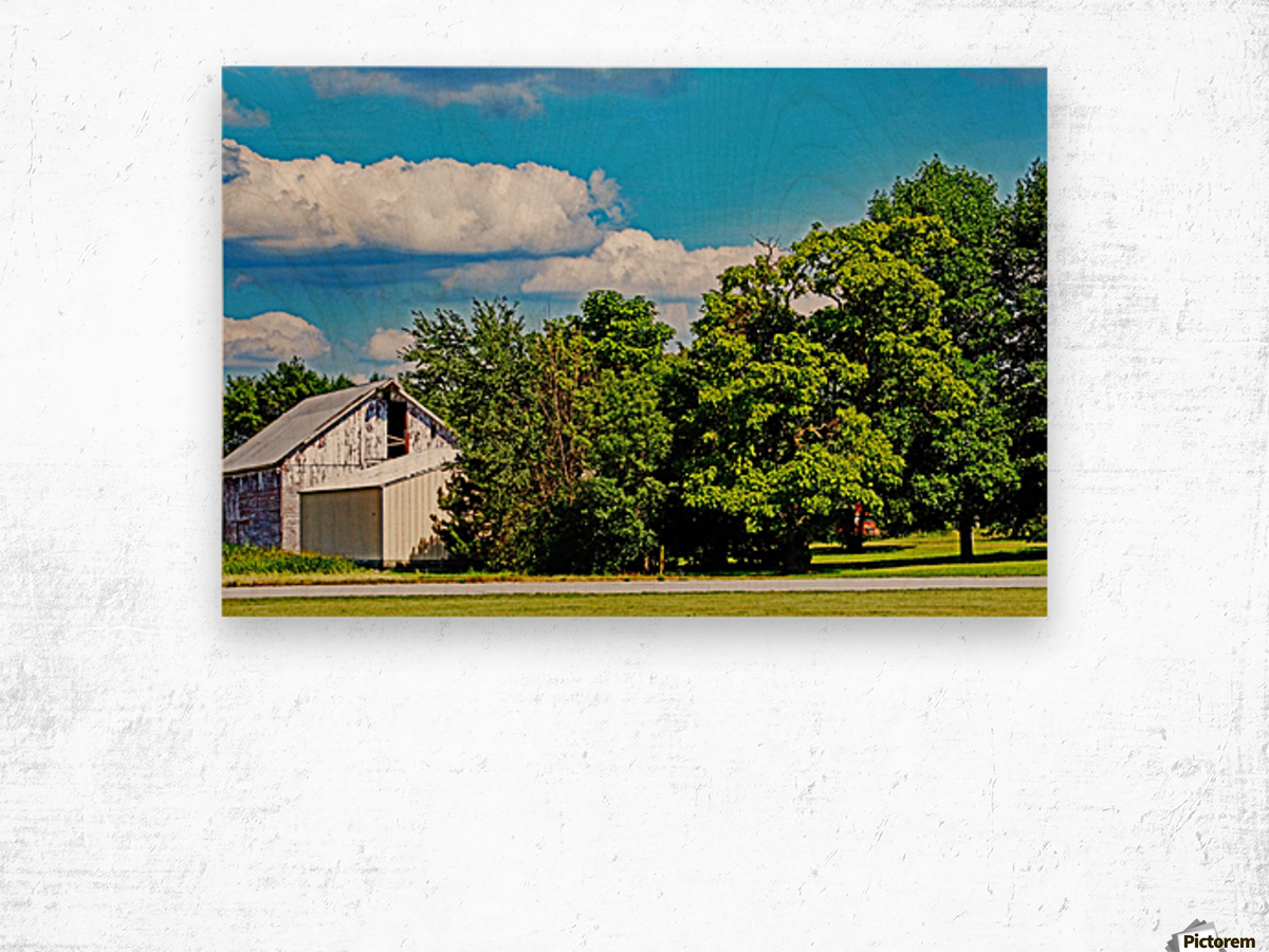 Storm Clouds Over the Barn 1 Wood print