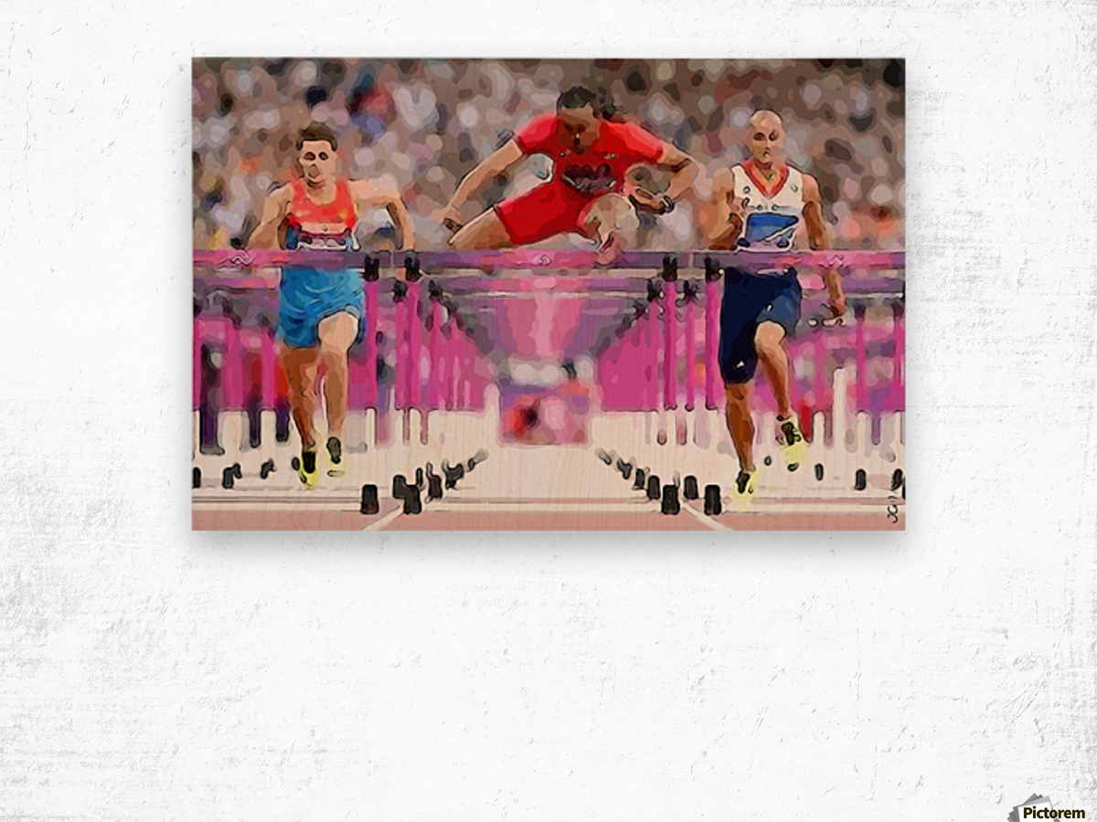 Athletics_58 Wood print