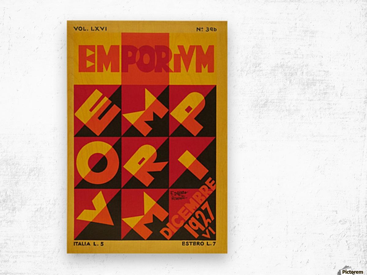 Emporium Italian vintage poster Wood print
