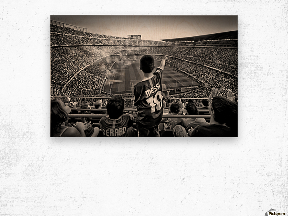 Cathedral of Football Wood print