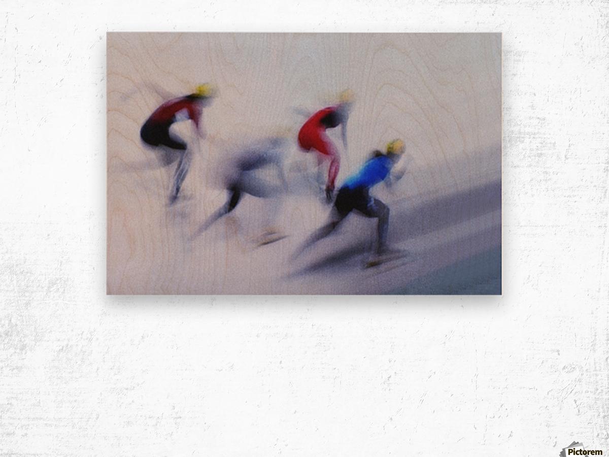 Speed Skating 1 Wood print