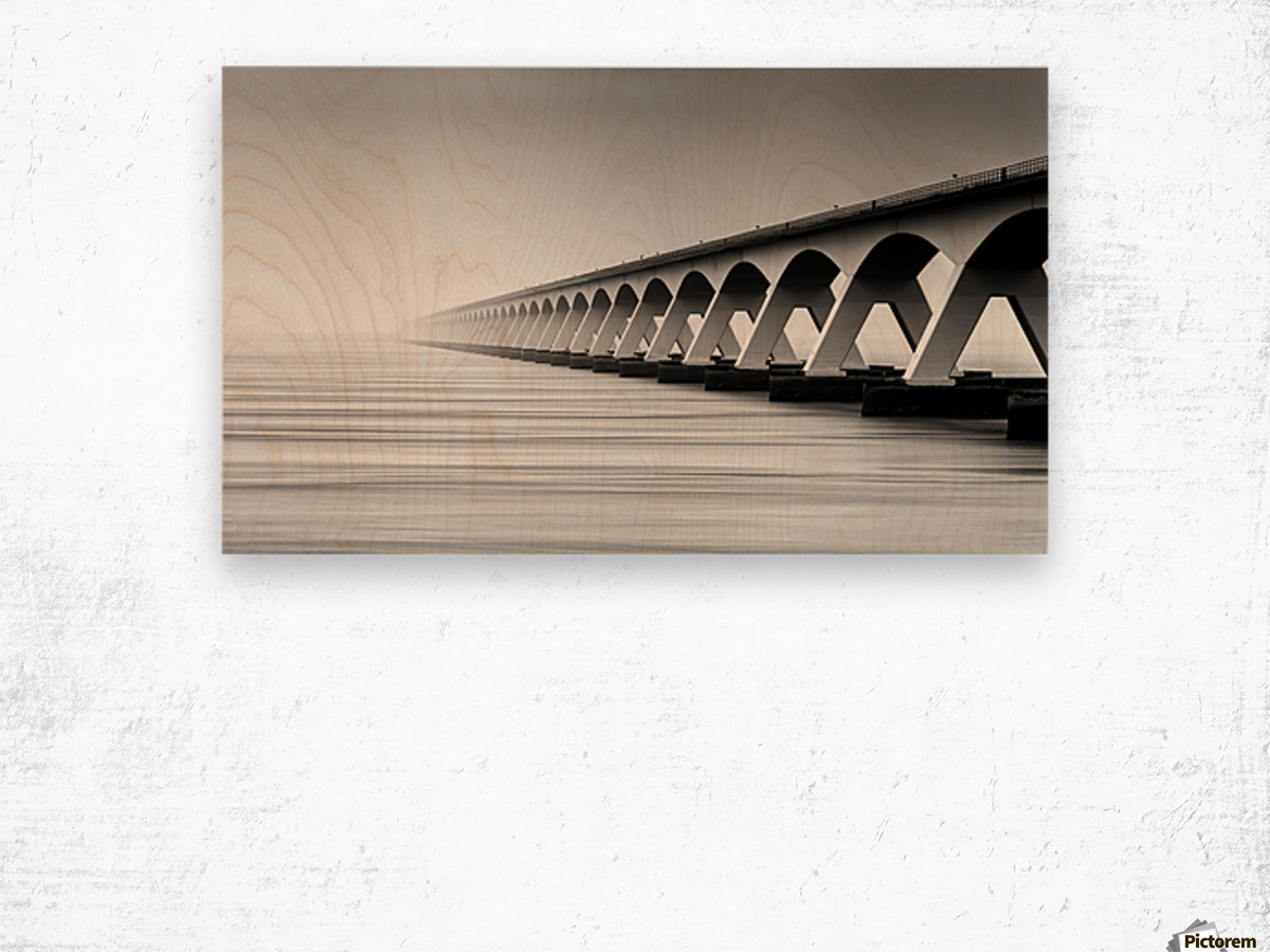 The Endless Bridge Wood print