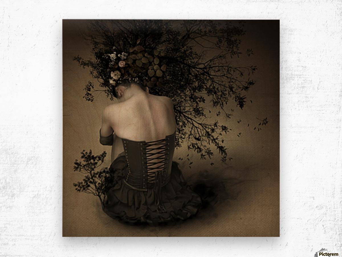 Night scented girl Wood print