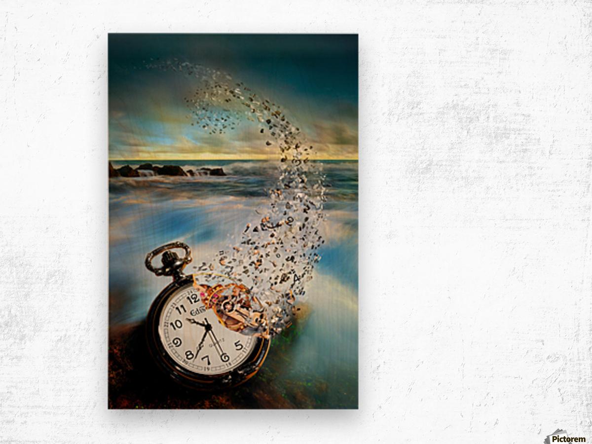 The Vanishing Time Wood print