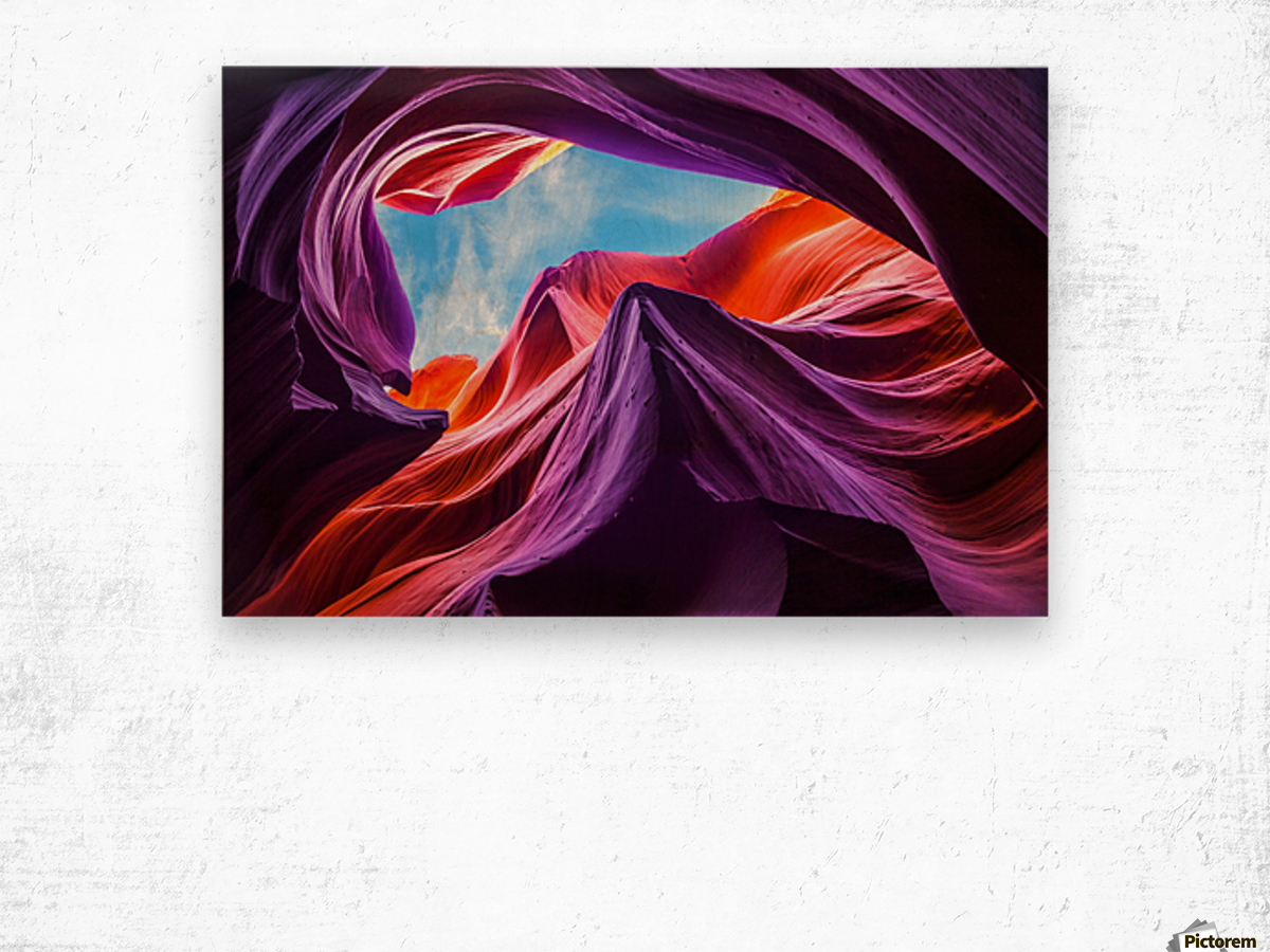 Magical Lower Antelope Canyon Wood print