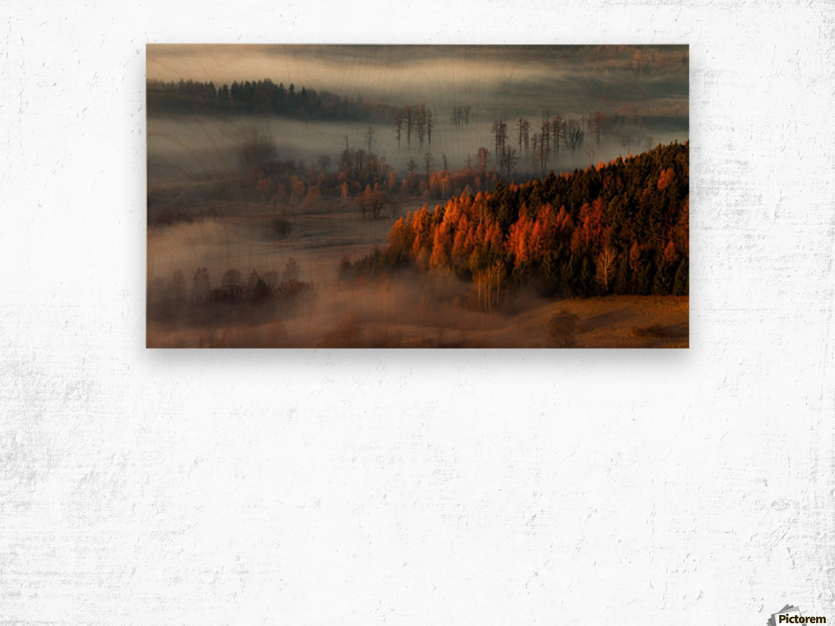 At the gates of the valley. Wood print