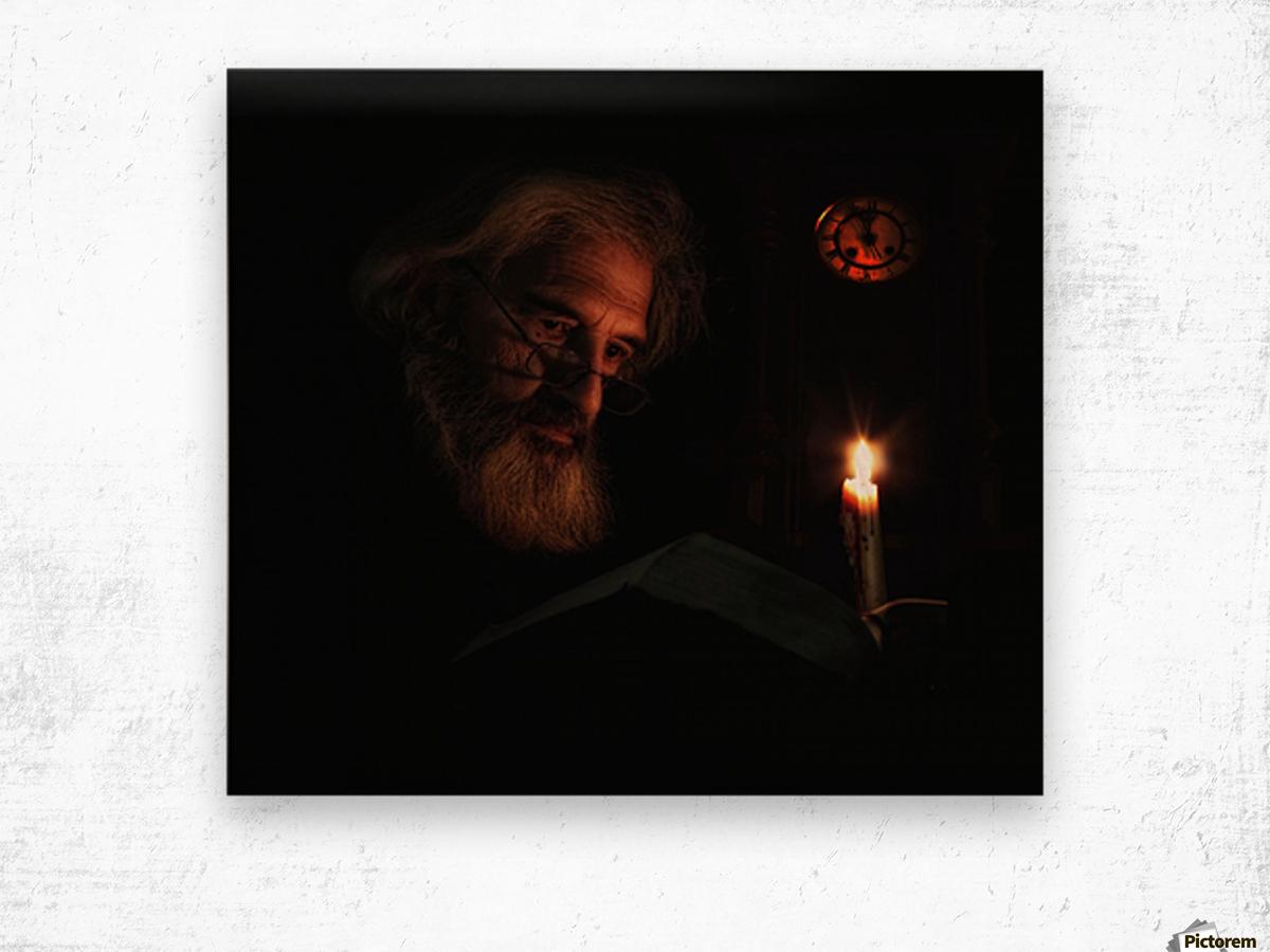 Midnight Story Wood print