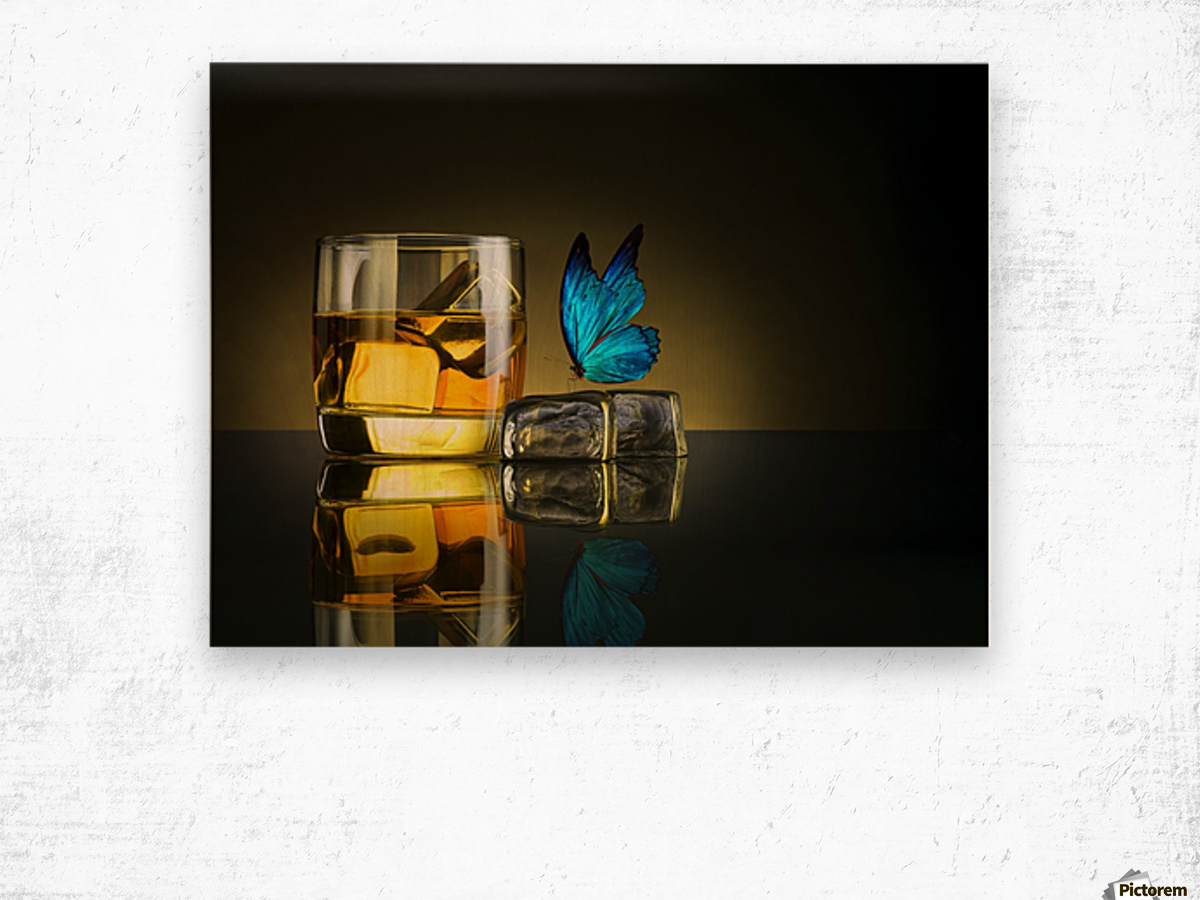 Butterfly Drink Wood print