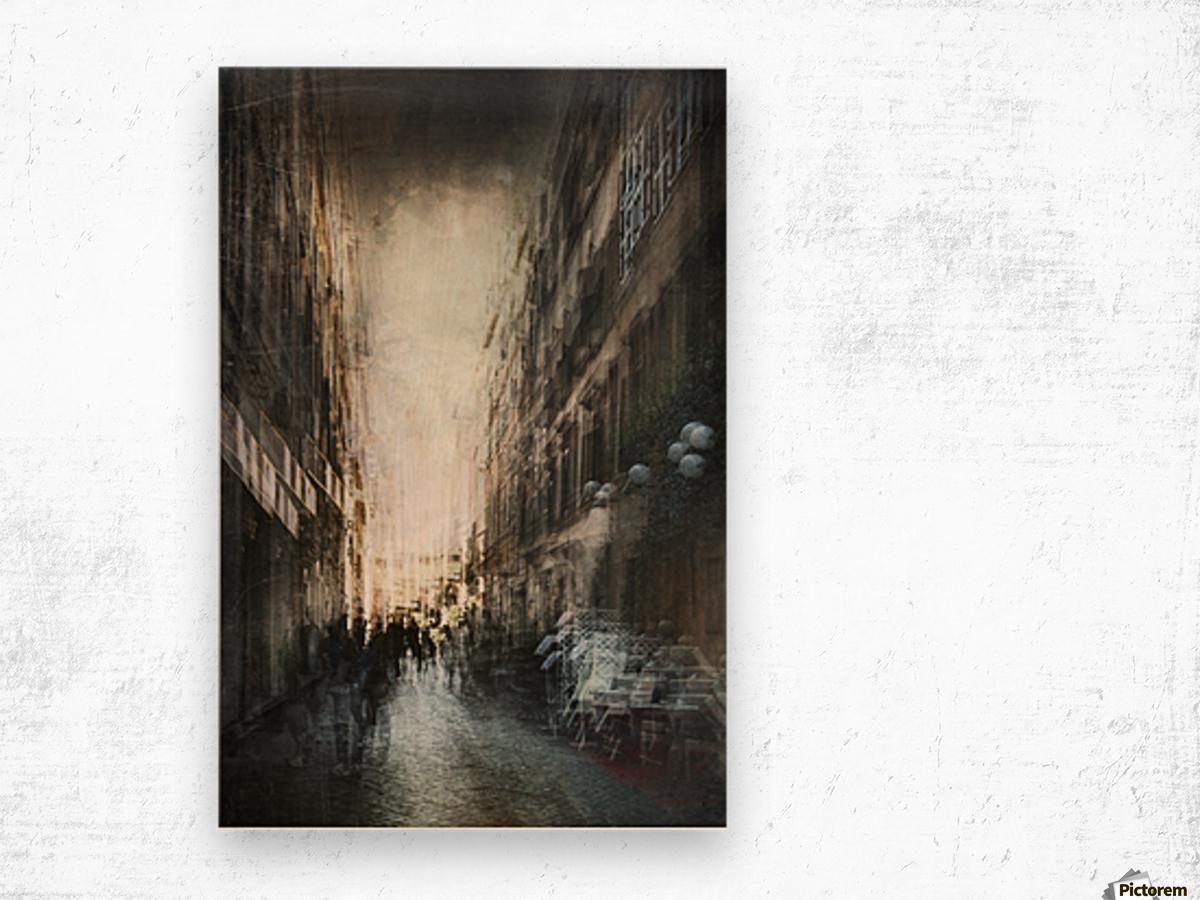 Street Wood print