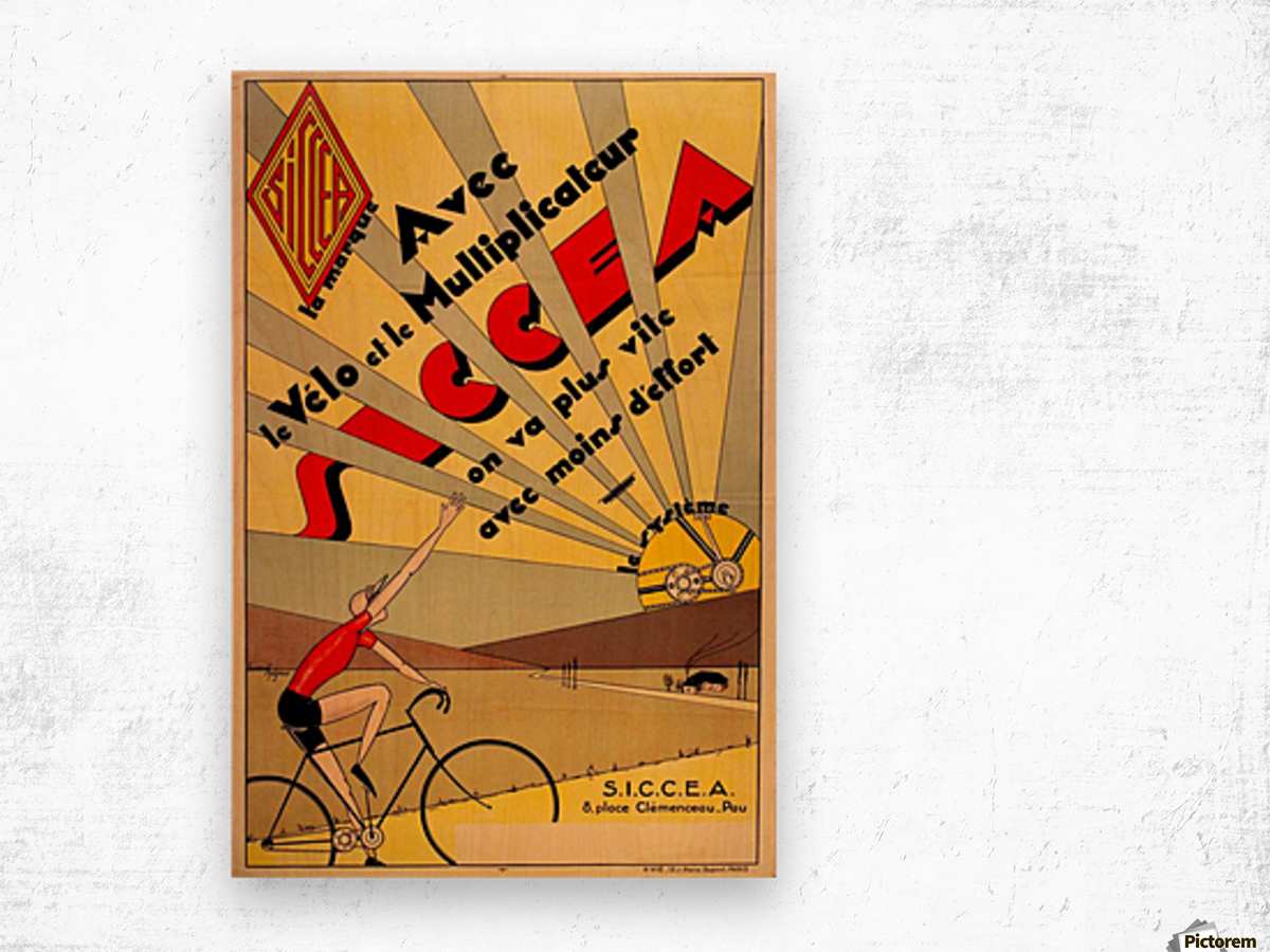 SICCEA original vintage poster Wood print