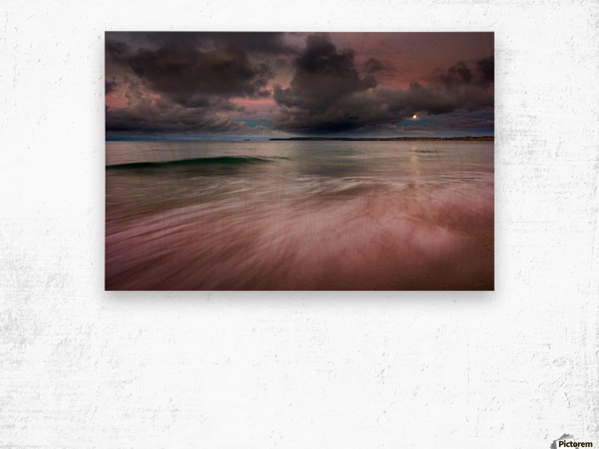 Carbis Bay moonlight Wood print