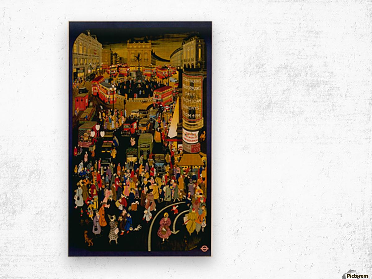 London metro undergroud poster Wood print